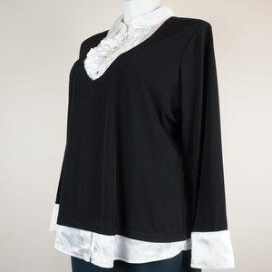 Studio 1940 Tops - 3/$20 Studio 1940 Black Blouse Collar Ruffles